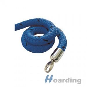 Modré lano s chromovu koncovkou