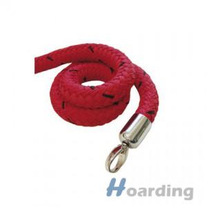 Červené lano s chromovu koncovkou