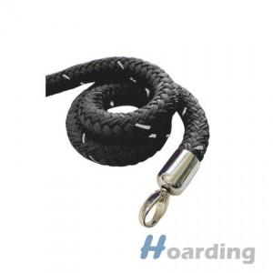 Černé lano s chromovu koncovkou
