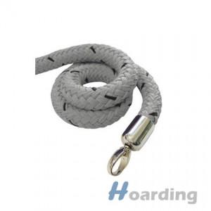 Šedé lano s chromovu koncovkou