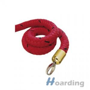 Červené lano s mosaznou koncovkou