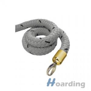 Šedé lano s mosaznou koncovkou